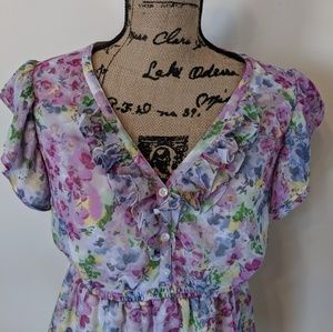 Motherhood maternity blouse floral size medium